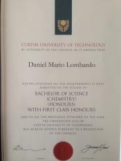 BSc (Honours in Chemistry)